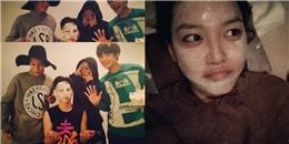 Key bị SHINee trây trét bánh kem, Sooyoung khoe hình đắp mặt nạ