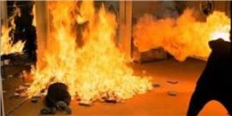 Người đàn ông tự đốt cháy mình sau bữa nhậu
