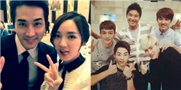 """Song Seung Hun tạo dáng đáng yêu bên Jia, EXO """"nhí nhảnh"""" bên đàn anh"""
