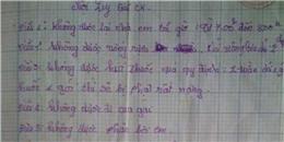 """Nữ sinh 14 tuổi viết  """"nội quy giữ chồng"""": bạn trai bị tù"""