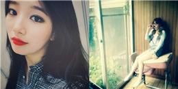 Suzy khoe hình đầu tiên trên Instagram, Taeyeon 'chiêu đãi' fan hình cực dễ thương