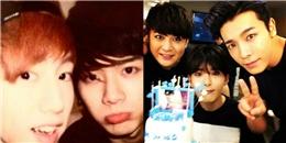 Jackson (GOT7) mừng sinh nhật Mark, Donghae tạo dáng cùng Shindong và Ryeowook