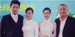 Phạm Quỳnh Anh cùng Hoàng Thùy Linh khoe sắc trong tà áo dài tại Hàn Quốc