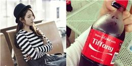 Park Shin Hye khoe hình hiền dịu, Tiffany hào hứng với chai nước ngọt có tên mình