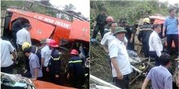 Bộ trưởng Thăng bám dây thừng xuống vực tiếp cận xe khách gặp nạn
