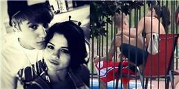 Selena Gomez tình tứ xoa bóp cho Justin Bieber