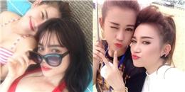 Chóng mặt  với các kiểu  tự sướng  của hotgirl Việt