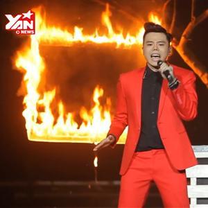 """Trịnh Thăng Bình khiến khán giả """"sợ xanh mặt"""" vì đốt lửa trên sân khấu"""