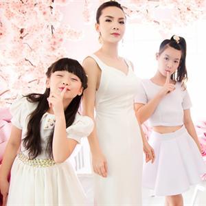Yến Trang khoe sắc tinh khôi bên cạnh học trò nhí