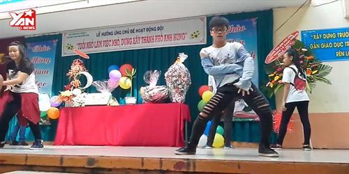 Nam sinh biểu diễn vũ đạo  Oh My Chuối  khiến cư dân mạng  phát cuồng