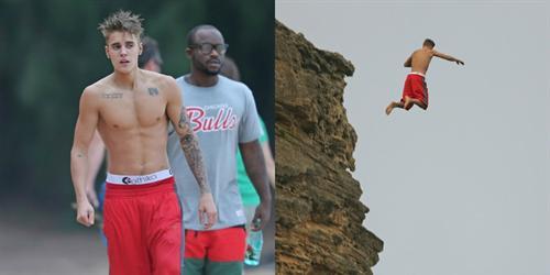 Nhảy từ vách núi xuống biển, Justin Bieber bị rách màng nhĩ
