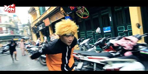 Clip hóa thân ninja nhào lộn giữa đường phố Hà Nội gây sốt