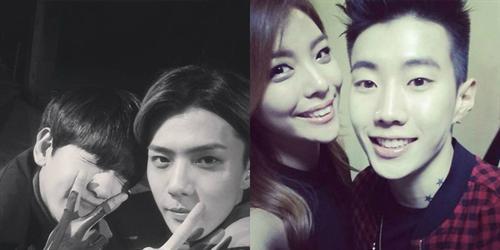 Baekhyun tạo dáng  nhí nhảnh  bên Sehun, Jay Park thân thiết bên Ailee