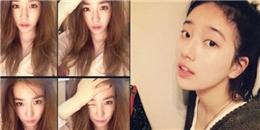 Tiffany  đầu bù tóc rối  chúc fan ngủ ngon, Suzy khoe mặt mộc cực đáng yêu