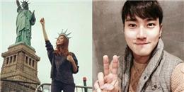 Seohyun  hóa thân  thành nữ thần tự do, Siwon khoe ảnh mặt ngố tàu