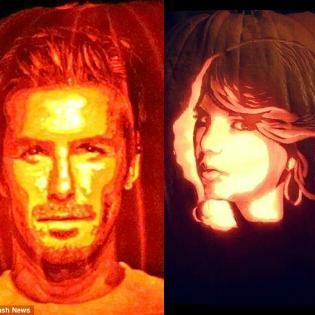 Khi sao Hollywood xuất hiện trên bí ngô Halloween