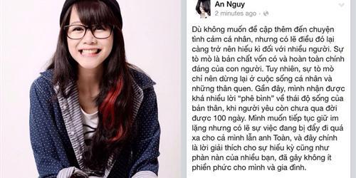 """An Nguy tung """"tâm thư"""" giải đáp nghi vấn chuyện tình với Toàn Shinoda"""
