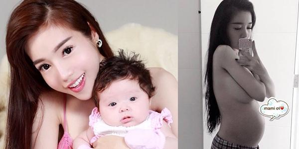 Elly Trần bất ngờ công bố  ảnh nóng  khi mang bầu