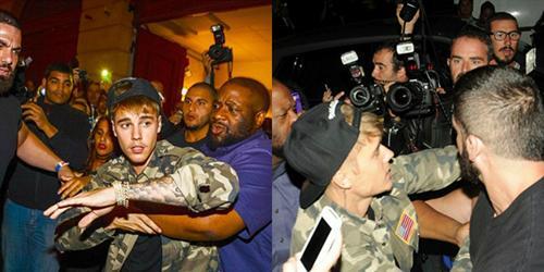 Nghiêm túc không bao lâu, Justin Bieber lại gây rối