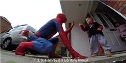 Thương con bị ung thư, bố hóa người nhện ngày sinh nhật