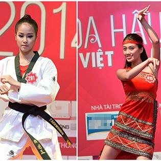 Thí sinh Hoa hậu Việt Nam 2014: Múa võ, nhảy popping, ảo thuật