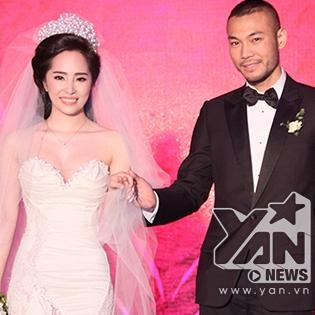 Doãn Tuấn ngọt ngào hôn Quỳnh Nga trong lễ cưới