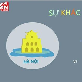 So sánh Hà Nội và Sài Gòn qua clip motion độc đáo