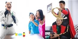 Hoàng Bách và bé Tê Giác háo hức hóa trang cho Comic Con