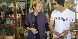 Gil Lê và Quang Đăng trổ tài đi chợ cho hơn 20 người ăn