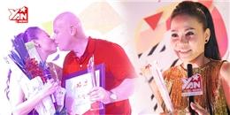 Thu Minh hôn chồng Tây khi nhận giải Nghệ sỹ Toàn Mỹ