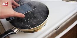 Bó tay với clip luộc iPhone 6 với nước ngọt