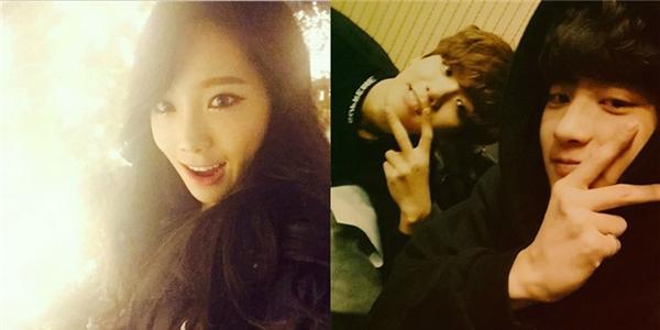 Taeyeon thích thú hưởng không khí giáng sinh, Chanyeol khoe hình nhí nhố cùng Baekhyun
