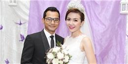 Huỳnh Đông chỉnh sửa váy cho vợ trước lễ cưới