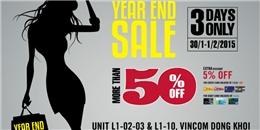 Mua sắm cuối năm - Săn hàng hiệu giảm giá khủng chỉ trong 3 ngày