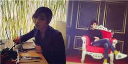 Minzy hưởng thụ đồ ăn của nhà hàng, Sehun cực bảnh trai trong hậu trường chụp hình