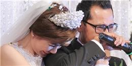 Chú rể Huỳnh Đông bật khóc trong lễ cưới