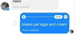 Tính năng Messenger hỗ trợ chuyển giọng nói thành văn bản
