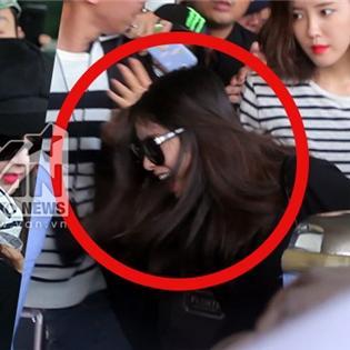 Jiyeon (T-ara) đau đớn vì bị fan Việt quá khích giật tóc tại sân bay