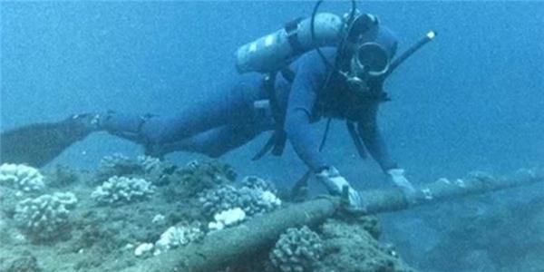 Đã xác định được vị trí đứt cáp quang biển AAG