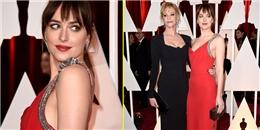 Sao '50 sắc thái' nổi bật cùng mẹ tại thảm đỏ Oscar 2015