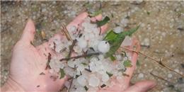 Mưa đá hiếm gặp xuất hiện ở Thanh Hoá