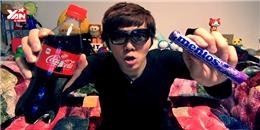 Sốc với trai Nhật vừa uống nước ngọt vừa ăn kẹo mentos