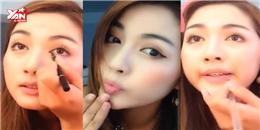 Hotgirl dạy trang điểm bằng giọng lồng tiếng phim Hongkong gây sốt