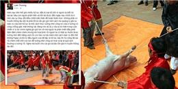 Lam Trường lên tiếng bức xúc về lễ hội chém lợn truyền thống 'man rợ'