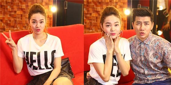 Minh Hằng chu môi nhí nhảnh bên Nam Hee