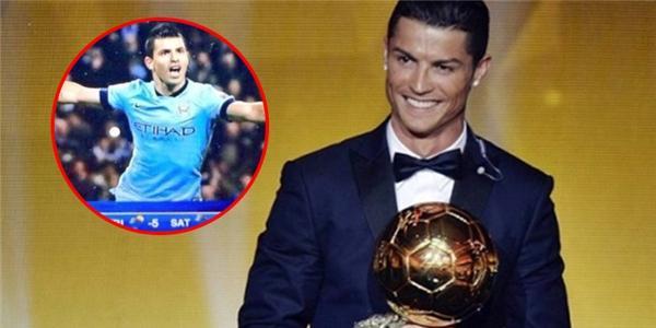 Đài truyền hình nhầm C.Ronaldo với… Aguero