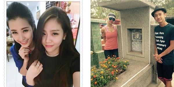 Đông Nhi đọ sắc cùng em gái Ông Cao Thắng, Dumbo và vợ đi thăm mộ bà