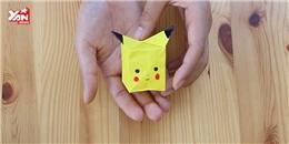 Xếp giấy hình pikachu cực dễ thương trong 5 phút