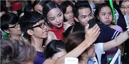 Tóc Tiên nghẹt thở trong vòng vây fans