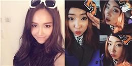 Jessica khoe tâm trạng vui vẻ, Minzy hứng thú đánh vần tên mình